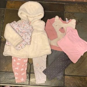 Winter baby girl outfits